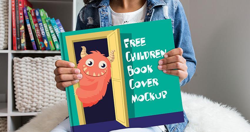 Niños gratis Portada del libro Maqueta Photoshop PSD