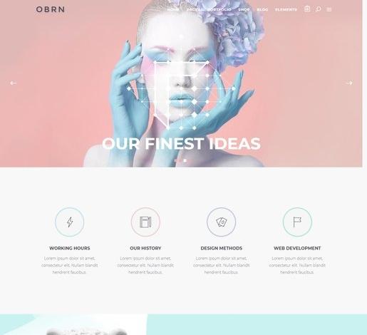 Oberon Beautiful WordPress Theme