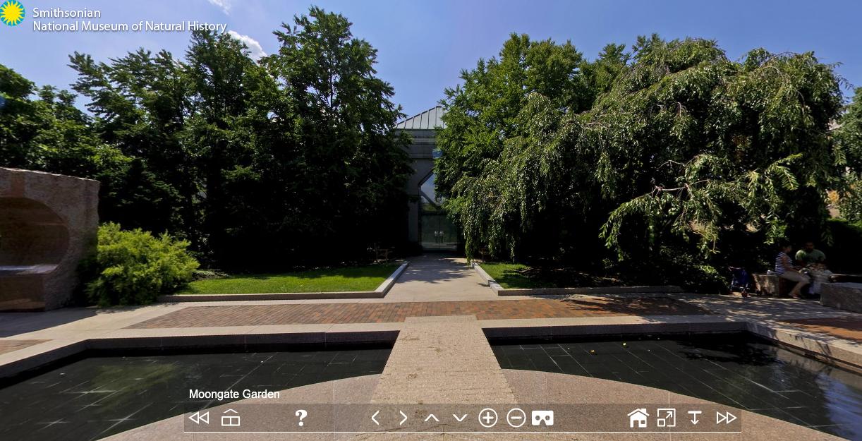El recorrido del Jardín Moongate del Smithsonian
