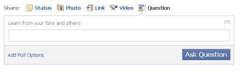 pregunta de facebook en blanco