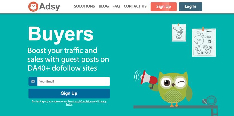 Adsy For Bloggers- Servicio de Guest Post