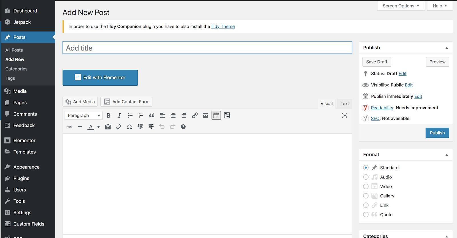 Dónde crear nuevas publicaciones usando WordPress como una plataforma de blogs gratuita