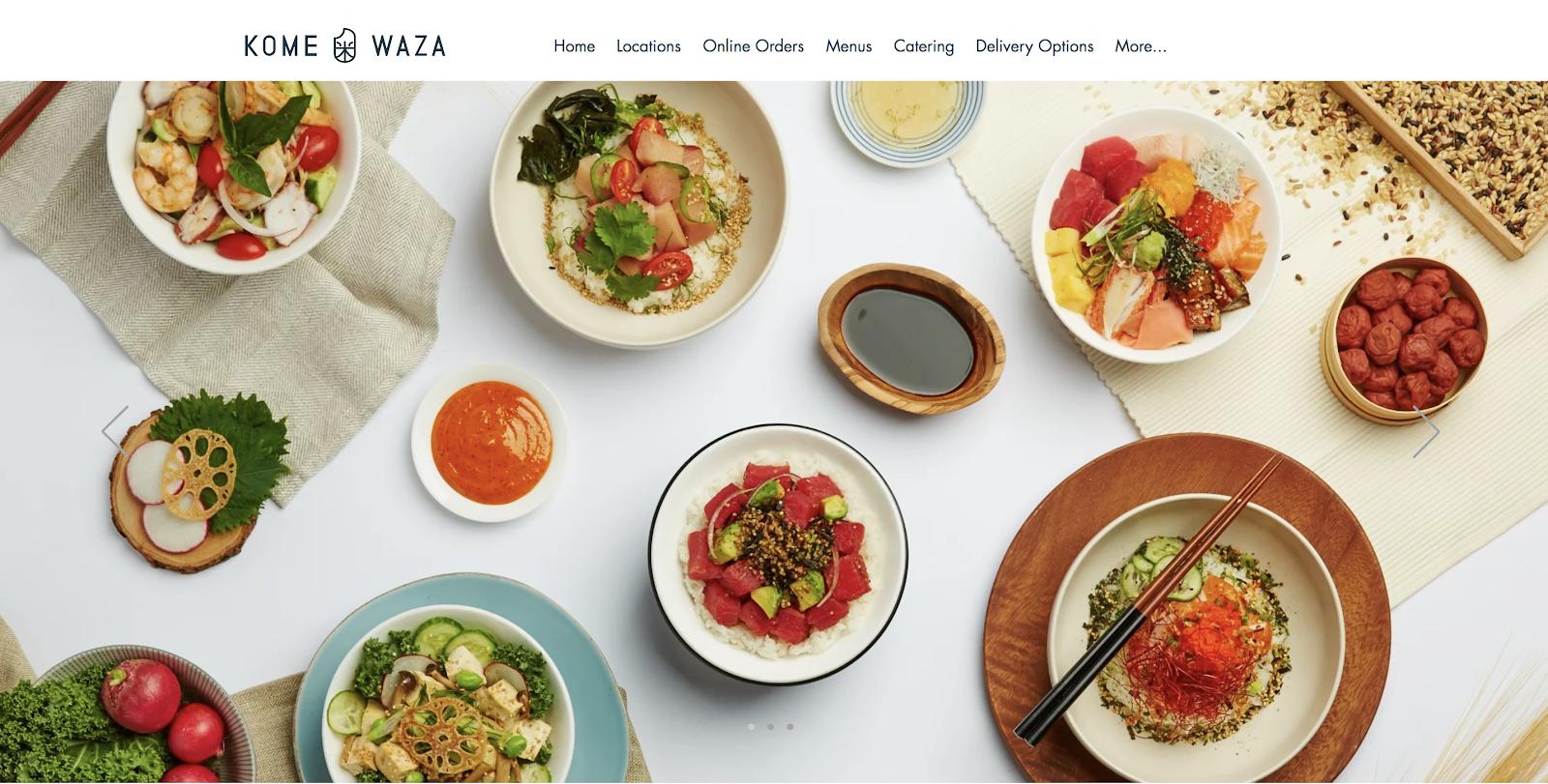 Ejemplo de blog de alimentos creado con Wix gratis