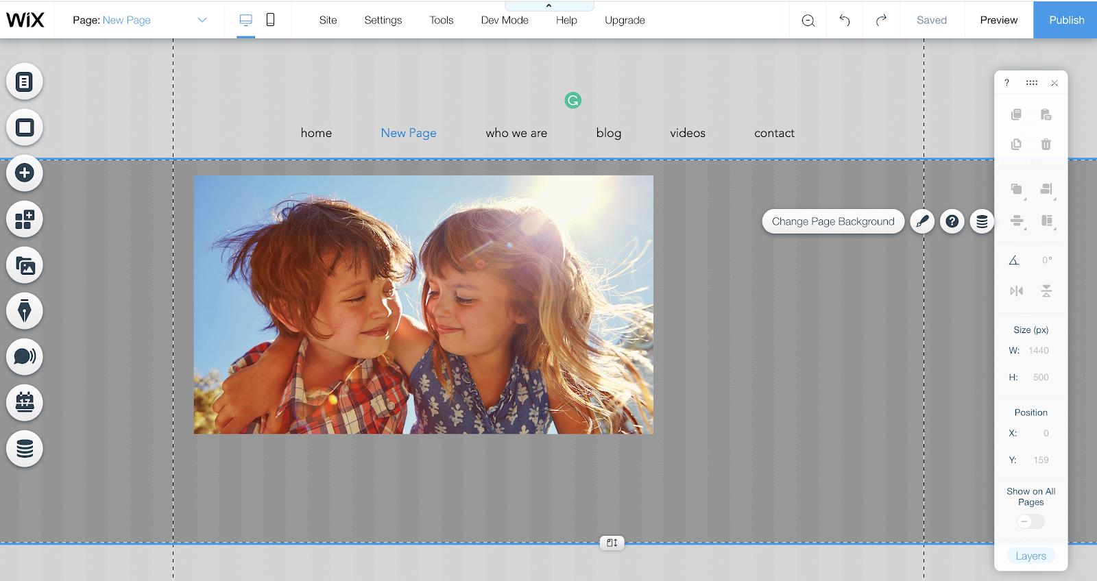 Captura de pantalla del tutorial de Wix Content Editor