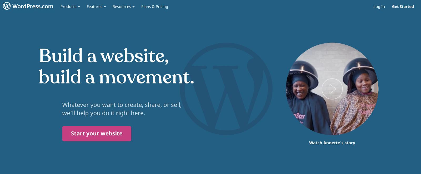 WordPress Dot Com como uno de los mejores sitios de blogs gratuitos para usar