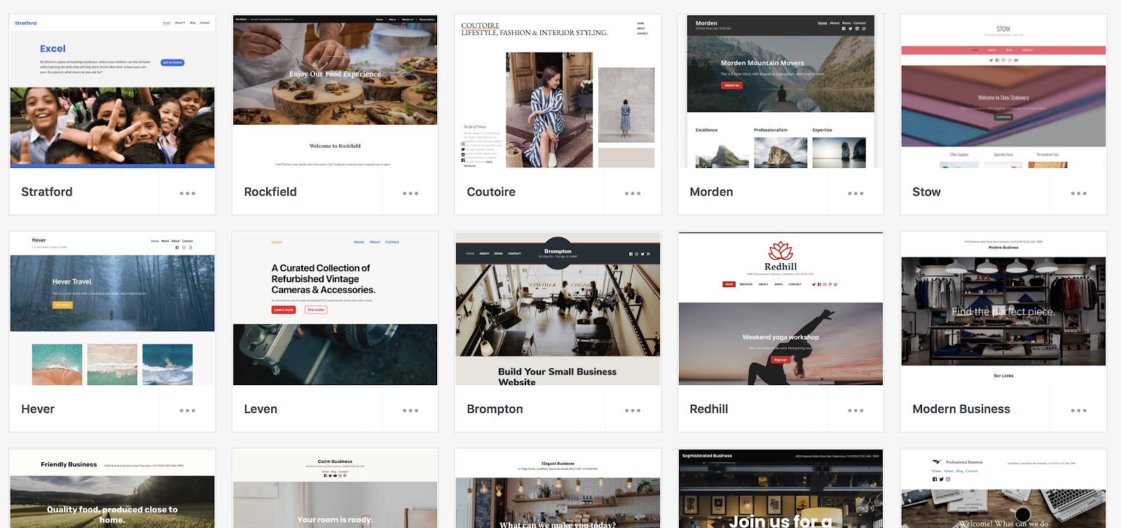 Ejemplos de blogs gratuitos creados en WordPress (captura de pantalla)