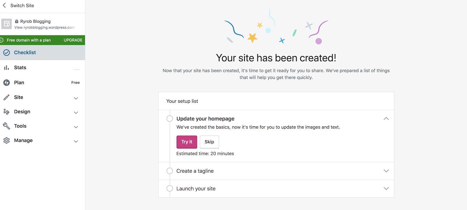 Tutorial de creación de un blog gratuito de WordPress