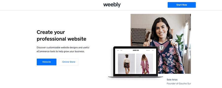 Sitios de blogs gratuitos de Weebly para construir su blog