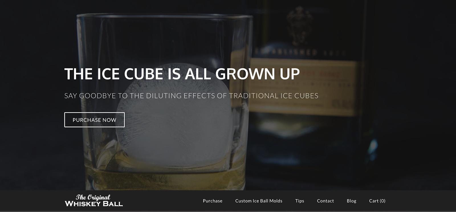 Ejemplo de captura de pantalla del sitio Weebly