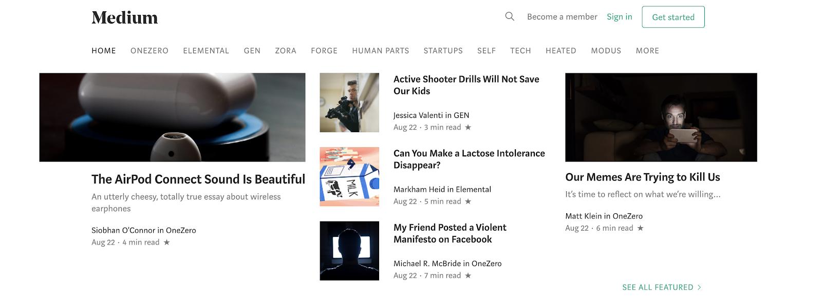 Medium como un sitio de blogs gratuito para comenzar a usar hoy