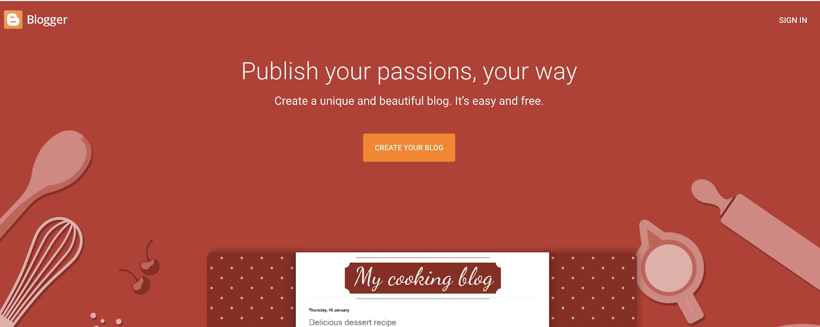 Blogger como un sitio de blog gratuito para usar para crear un blog gratis