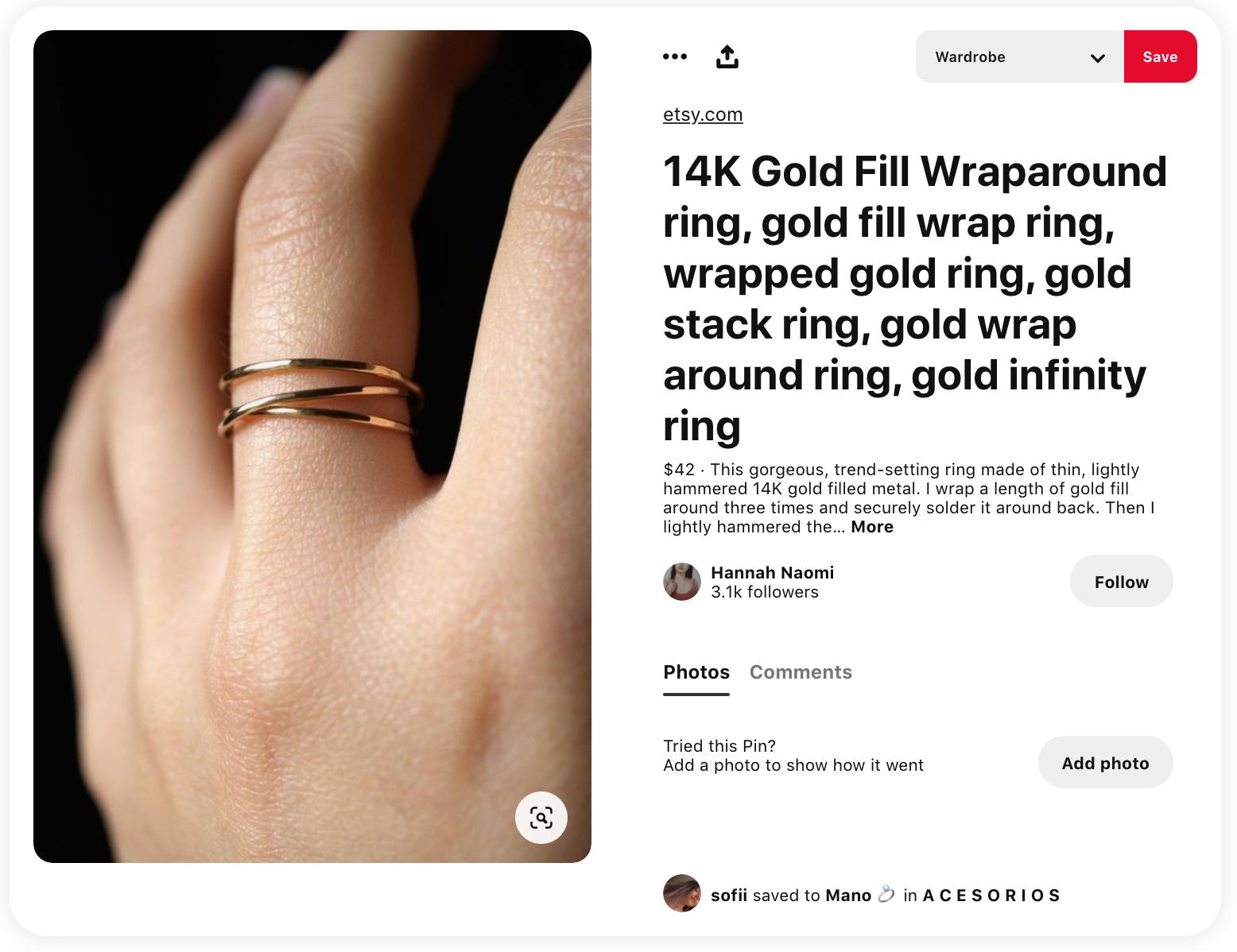 cómo vender en pinterest - ejemplo de un pin rico en productos