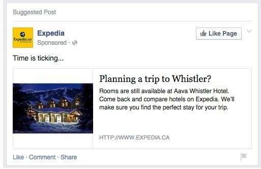 Facebook  Anuncio - página de anuncios de Wikipedia