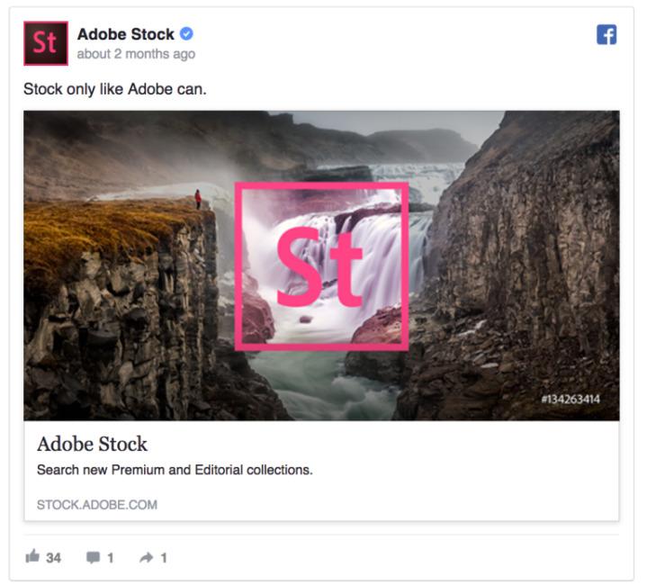 Facebook  Anuncio - Adobe Stock
