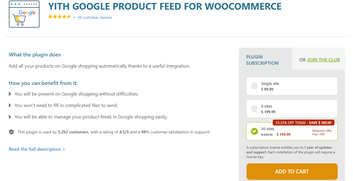 yith feed de productos de google