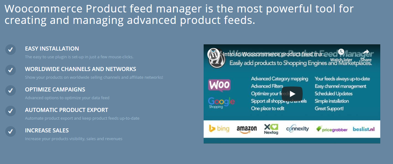 feed de productos de woocommerce