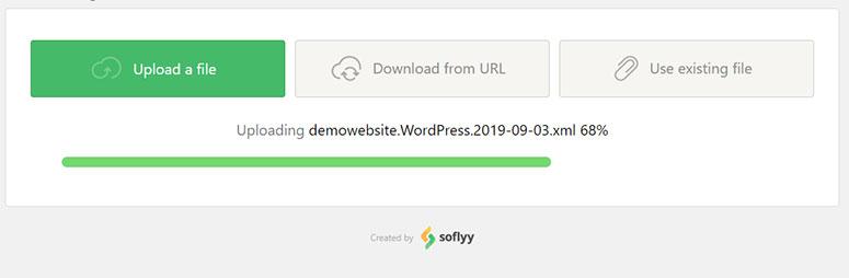 Progreso de carga de archivos