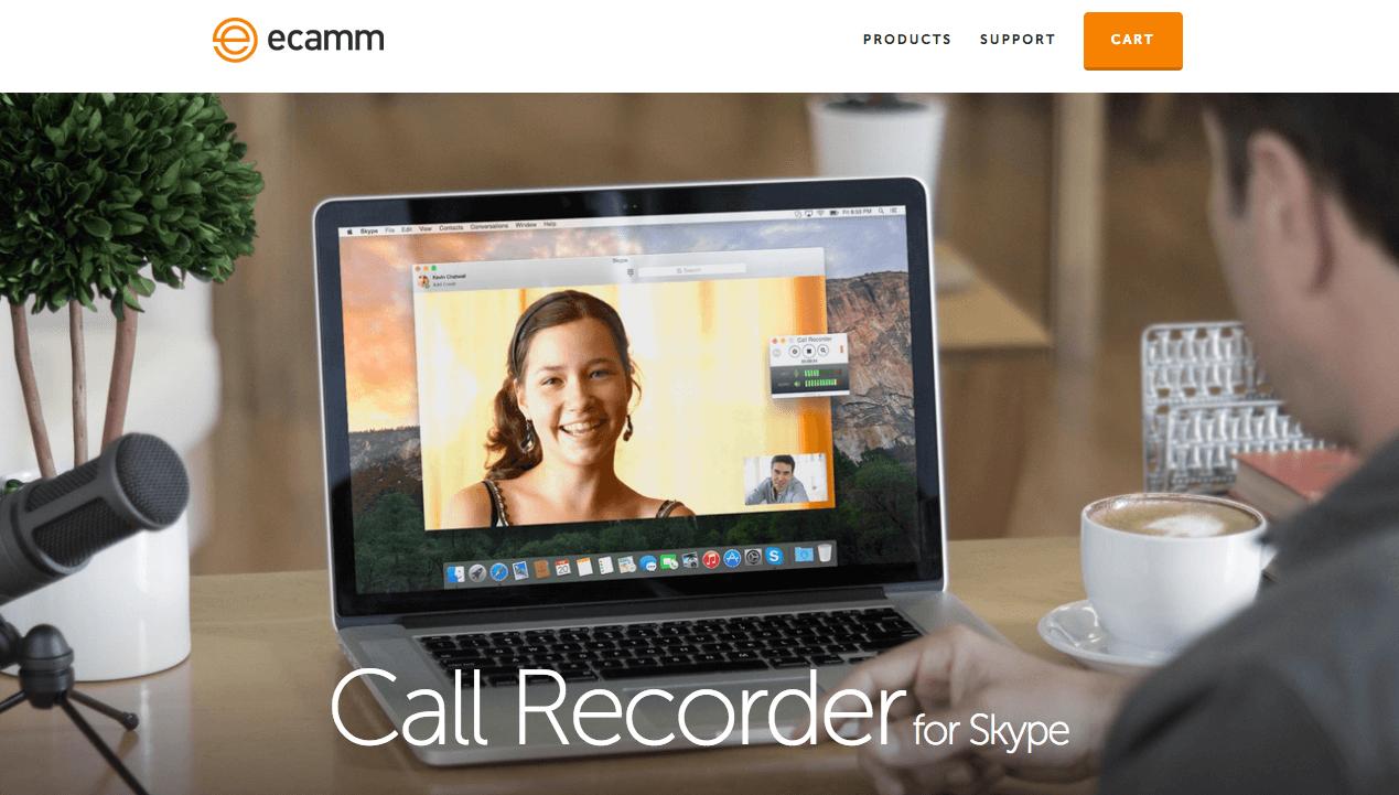 Grabador de podcast Skype ecamm