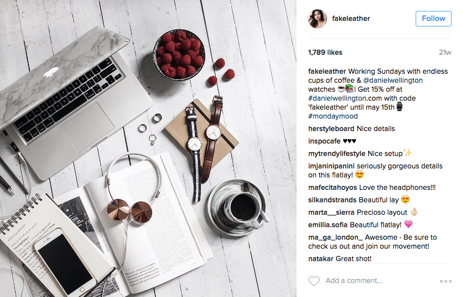 ejemplo de marketing de influencer de instagram