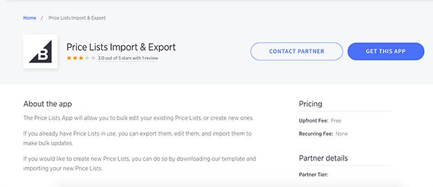listas de precios de importación y exportación