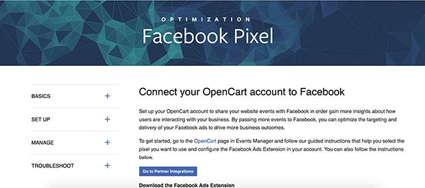 aplicación de extensión de anuncios de Facebook o bigcommerce