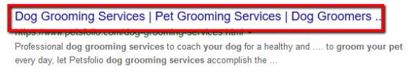 Ejemplo de título de aseo del perro