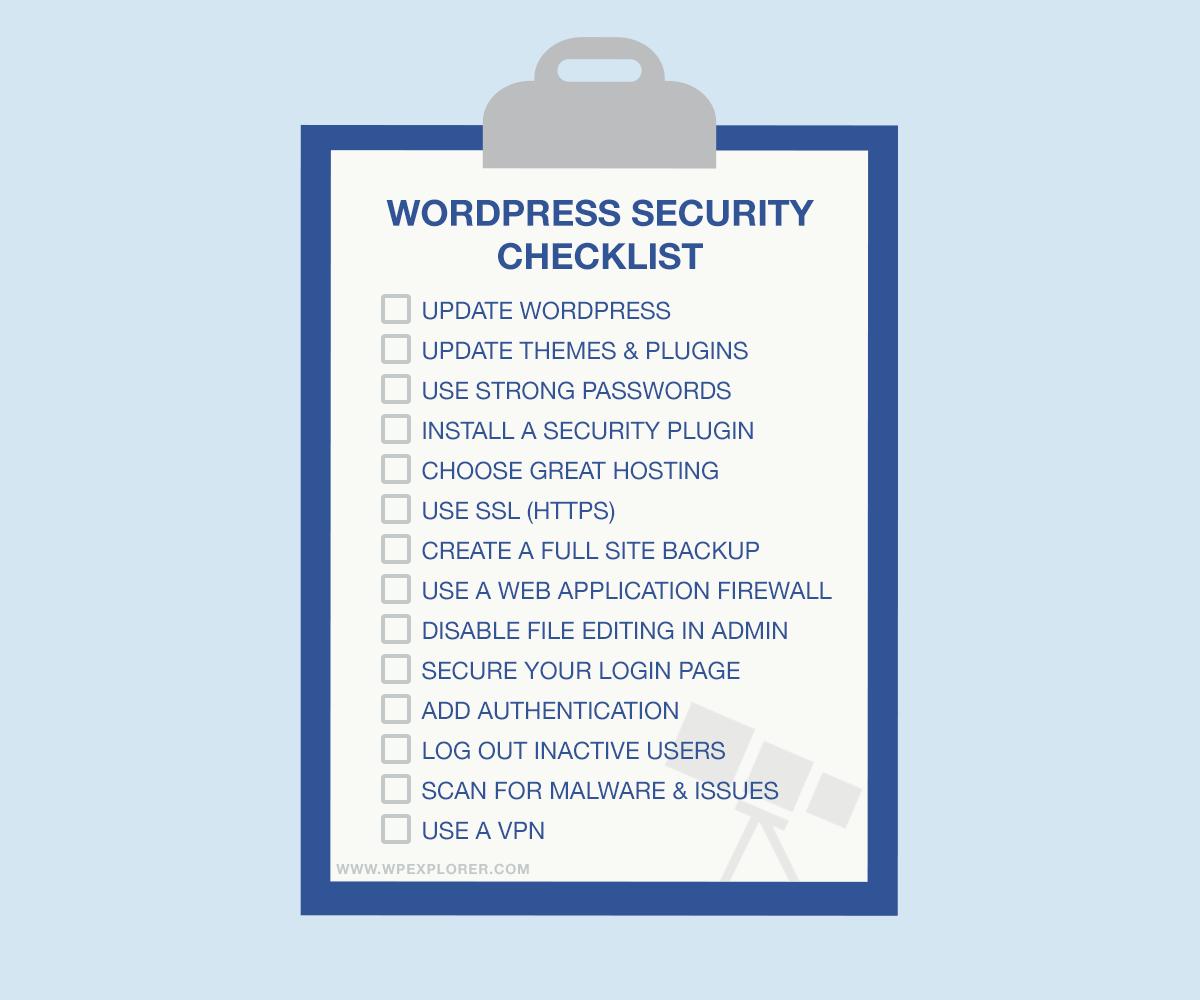 Lista de verificación de seguridad simple de WordPress