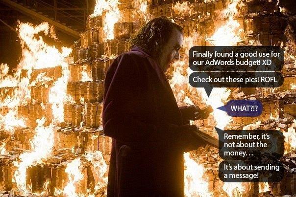 ¿El Joker está administrando su cuenta PPC? El | Publicidad disruptiva