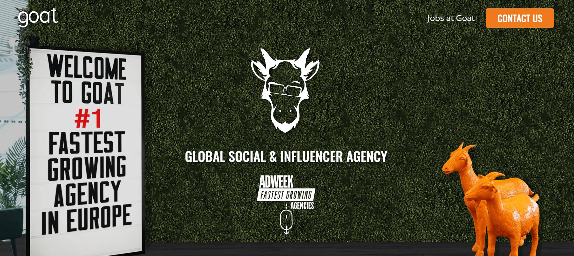 La agencia de cabra Influencer Marketing Agency