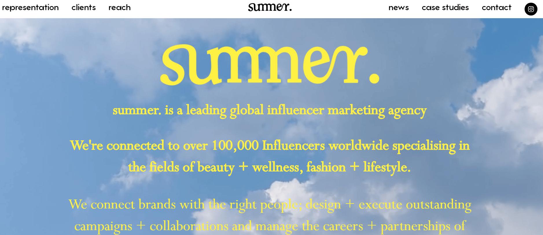Esta es la Agencia de Marketing de Influencer de Verano