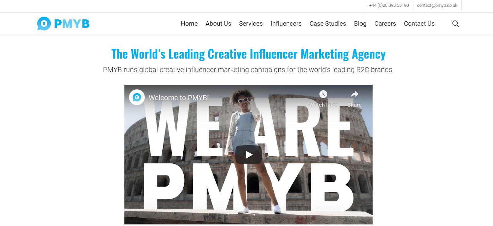 Agencia de Marketing de Influencer PMYB
