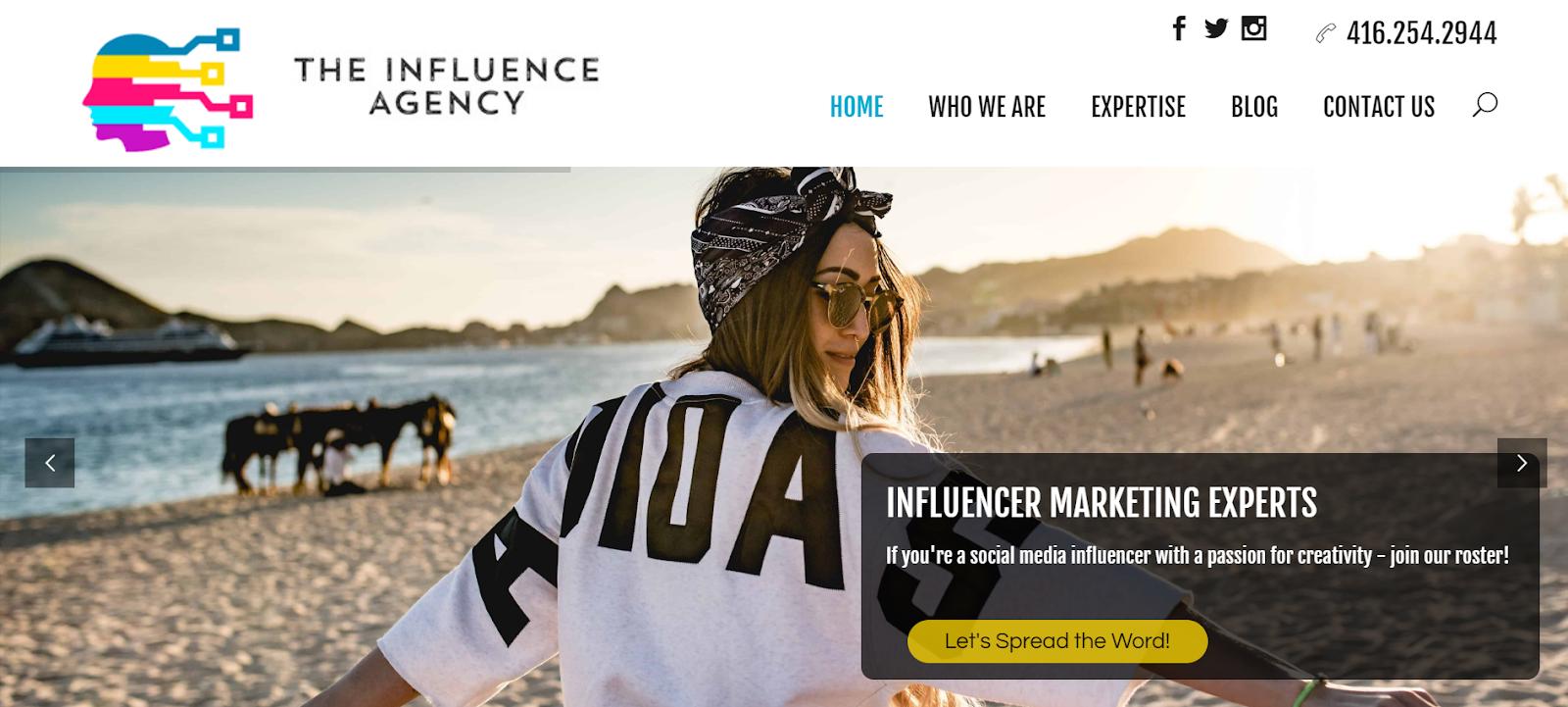 La agencia de influencia Agencia de marketing de influencia