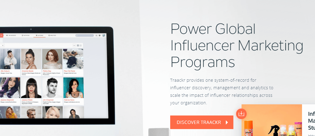 Plataformas de marketing de Influencer de Traackr