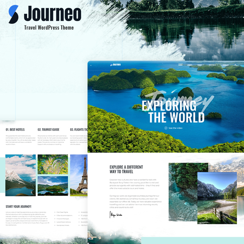 Plantilla de WordPress Journeo hecha para Elementor
