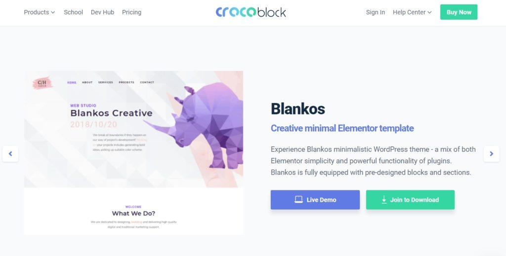 Temas de WordPress compatibles con Blankos Elementor