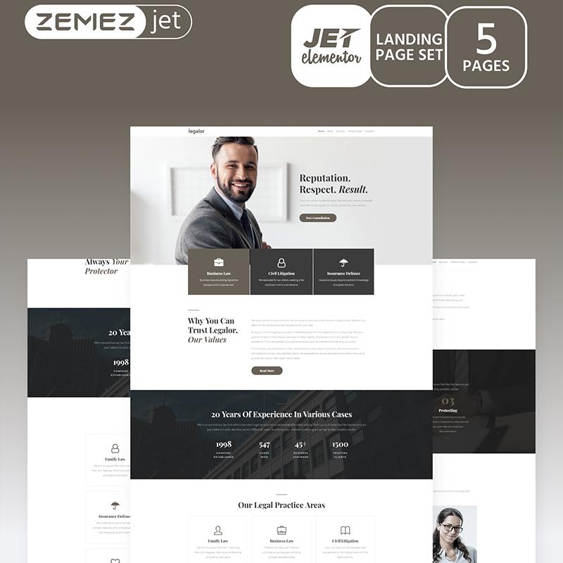 Justicon Element o temas de WordPress compatibles