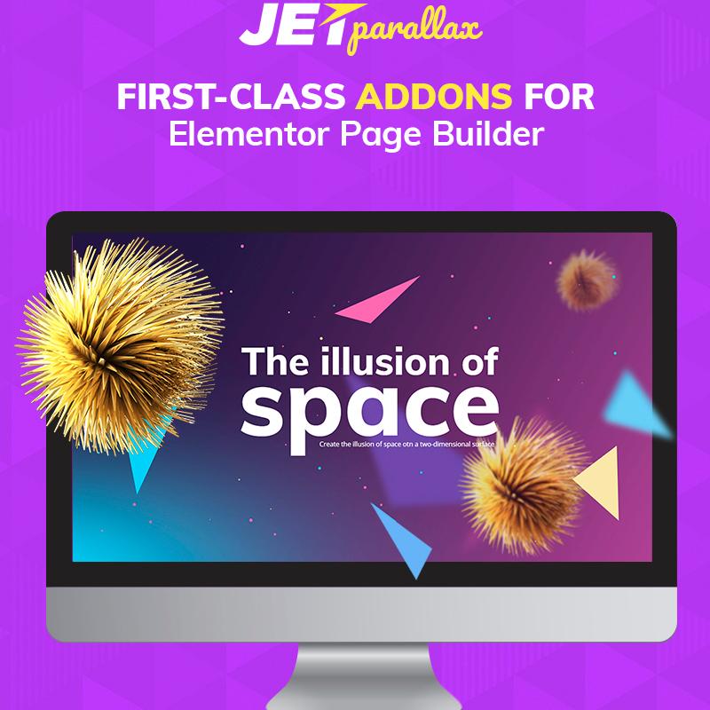jetparallax el complemento de wordpress compatible con Elementor