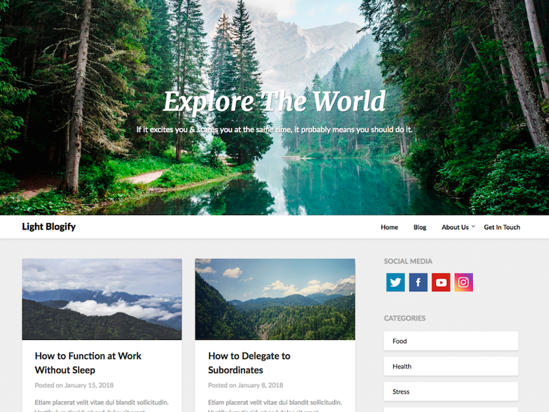 LightBlogify WordPress Theme