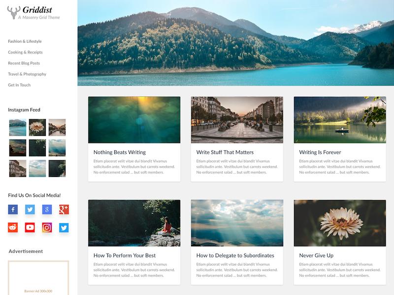 Griddist WordPress Theme