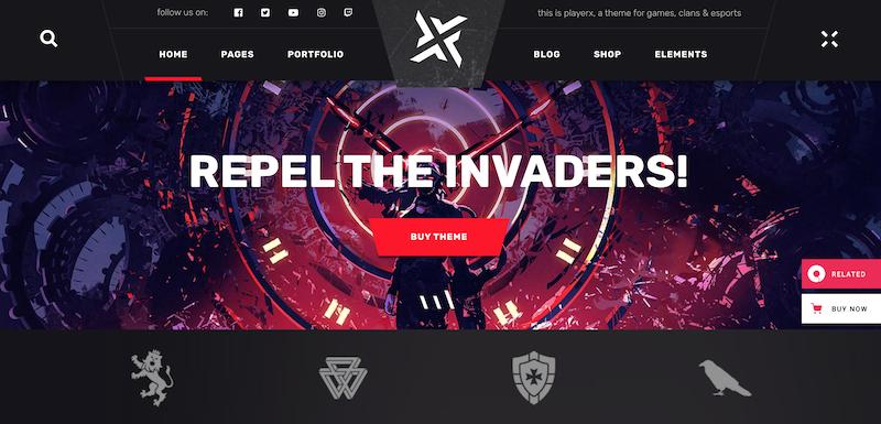 PlayerX WordPress Theme