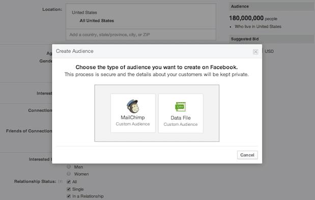 Facebook  Audiencias personalizadas
