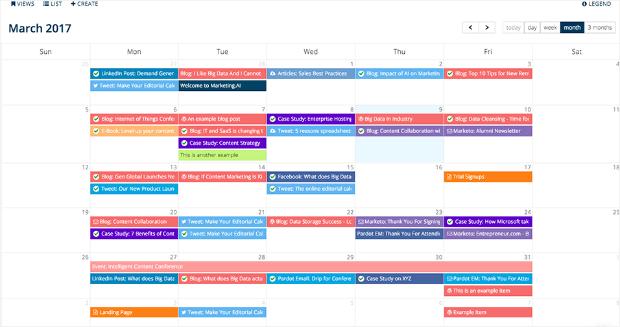 calendario editorial minucioso