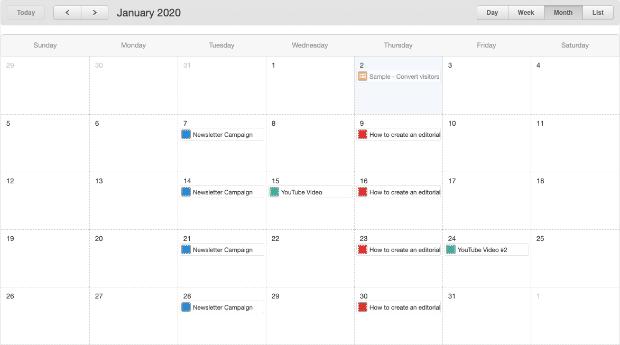 calendario editorial completo
