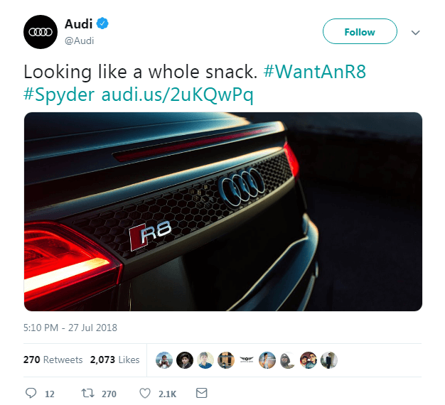 Audi twitter Hashtag Campaigns