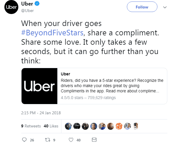 uber Twitter Hashtag Campaigns