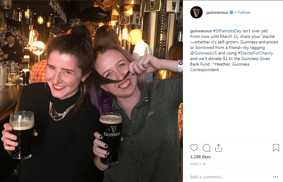Guinness instagram Hashtag Campaigns