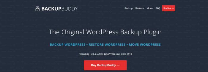 Cree un blog fácilmente: complemento BackupBuddy