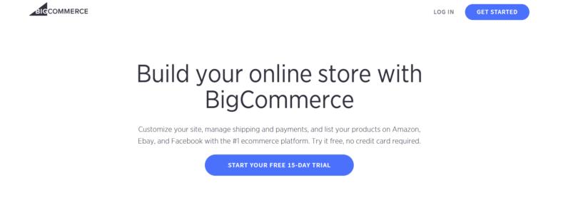 Crear una tienda de comercio electrónico rentable: Bigcommerce