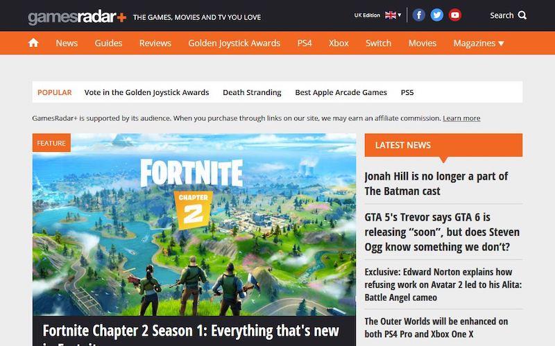 sitio web de juegos en wordpress