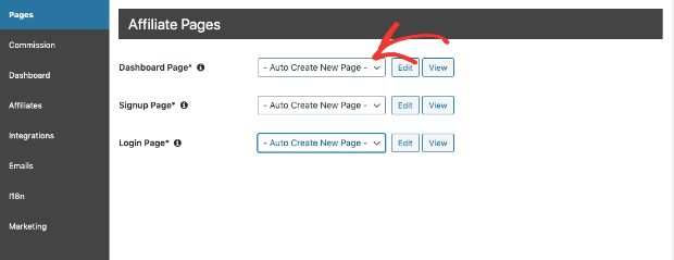 crear automáticamente nuevas páginas